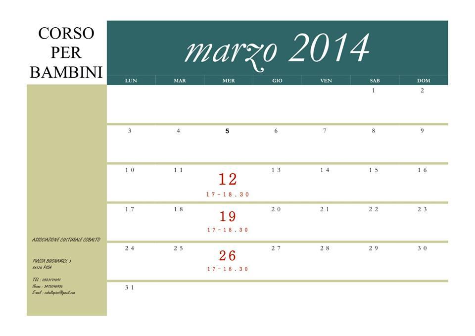Corso Bambini Pisa 12 marzo 14