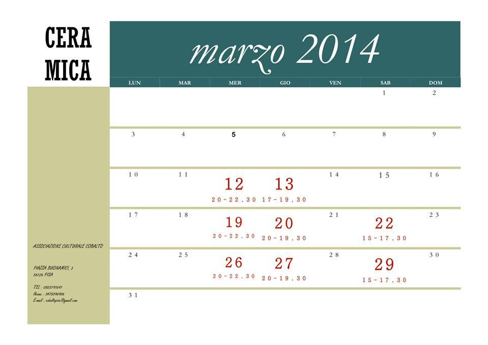 Corso Ceramica Pisa 9 marzo 14