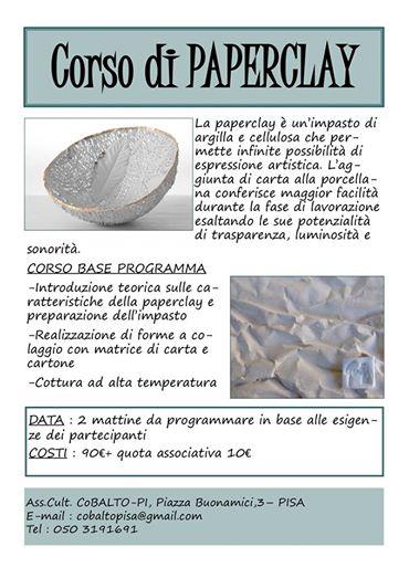 Corso Paper Clay Pisa