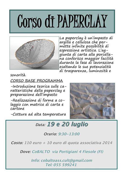 Corso Paper ClayFiesole 19 20 Luglio 14