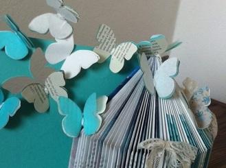 casa delle farfalle libro, carta, cartoncino e pizzi